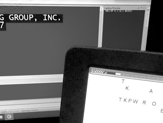 Stenography - The Captioning Group Inc