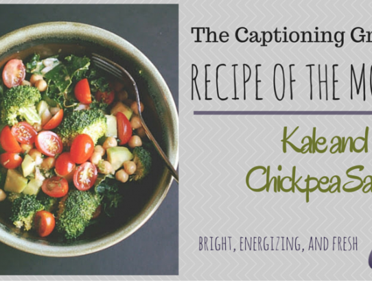 TCG Recipe of the Month - Kale and Chickpea Salad
