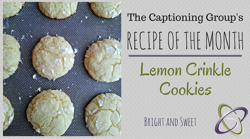 TCG Recipe of the Month | Lemon Crinkle Cookies