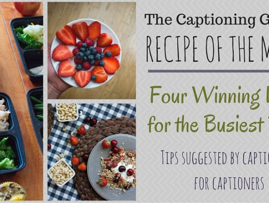 TCG Recipe of the Month - Busy Workday Meal Ideas
