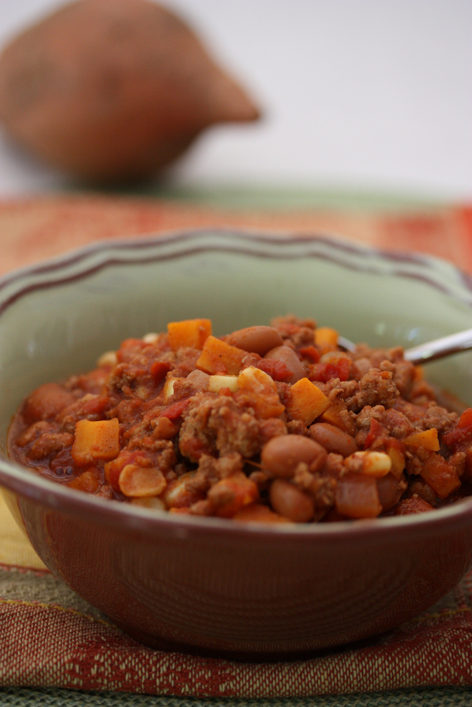 Easy Slow Cooker Sweet Potato Chili