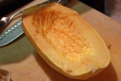 How to Cut a Spaghetti Squash in Half