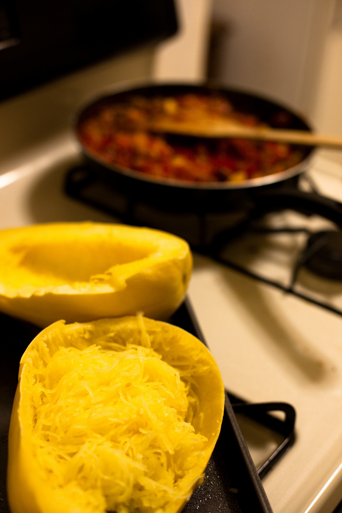 TCG Recipe of the Month: Spaghetti Squash with Meat Sauce