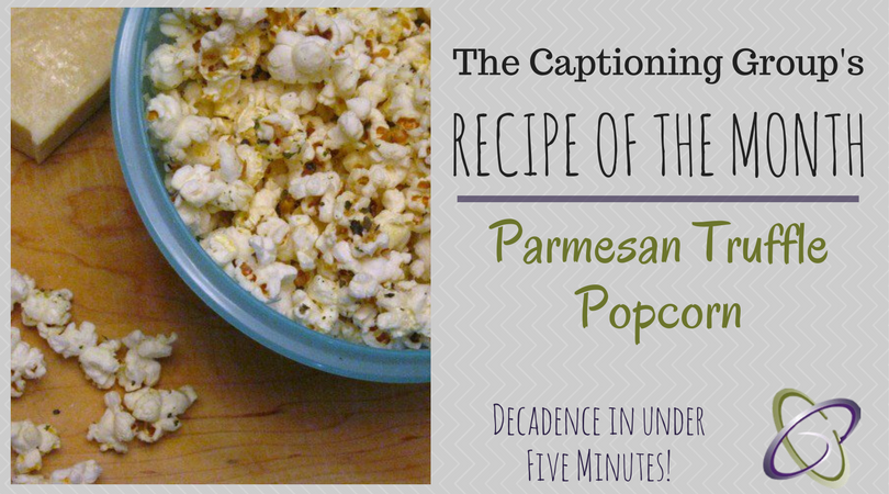 TCG Recipe of the Month - Parmesan Truffle Popcorn
