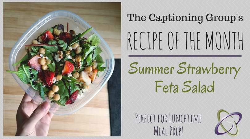 Lunchtime Meal Prep: Strawberry Feta Salad