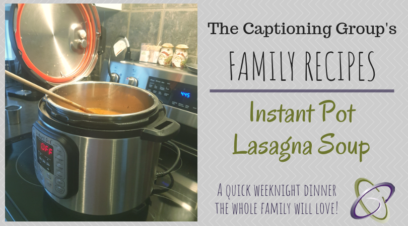 TCG Family Recipe - Lasagna Soup