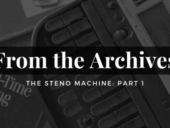 The Steno Machine Part 1