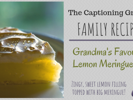 TCG Family Recipe - Lemon Meringue Pie